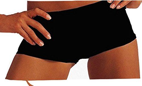 Damen Pantys Hipster Panty Seamless Shorts Nahtlos Unterhosen Schwarz GR. 2XL