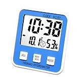 YTS Temperature Hygrometer Home High Precision Indoor Baby Room Accurate Creative Digital Display (Color : Blue)