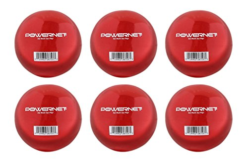 PowerNet Weighted Hitting and Batting Training Ball (6 pack) (Weighted Baseball Batting)
