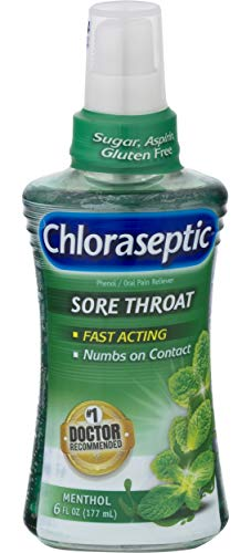 Chloraseptic Sore Throat Spray | Menthol | 6 FL OZ | 1 Bottle