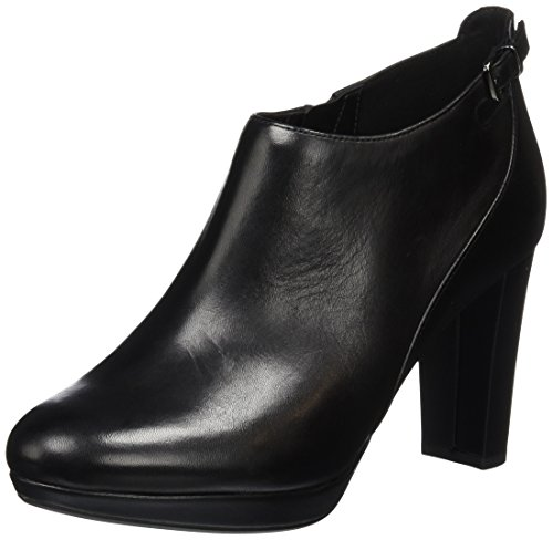 Clarks WoMen Kendra Spice Ankle Boots Black (Black Leather)