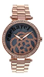 Cacharel Women`s Rose Gold Dial Metal Strap Band Watch [CLD 001S/2AM]