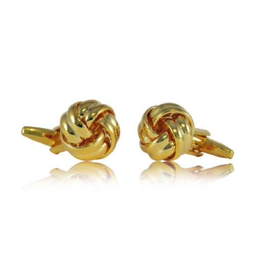 Cuff-Daddy Classic Woven Gold Knot Cufflinks