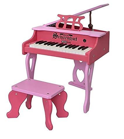 Superior Schoenhut 30 Key Digital Baby Grand Piano, Pink
