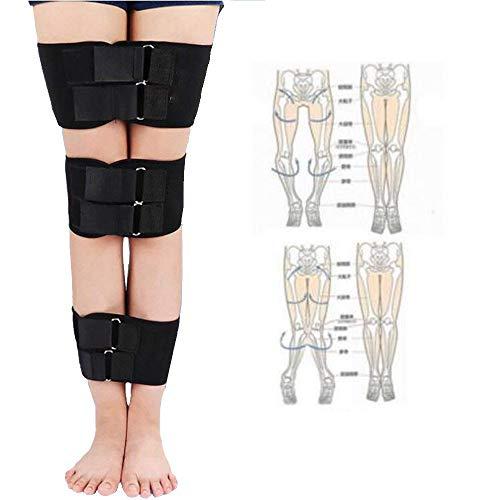 zinnor Leg Correction Device, XO-Type Leg Correction Belt, Correction Brace Belt Knock Knees Valgus Deformity Bow Legs Band Straighten Belt Durable Diving Material ()