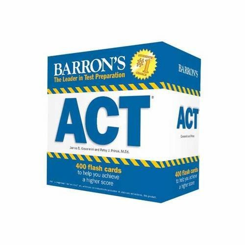 By James D. Giovannini - Barron's ACT Flash Cards, 2nd Edition: 410 Flash Cards to Help Yo (2nd Edition) (2015-08-16) [Cards]