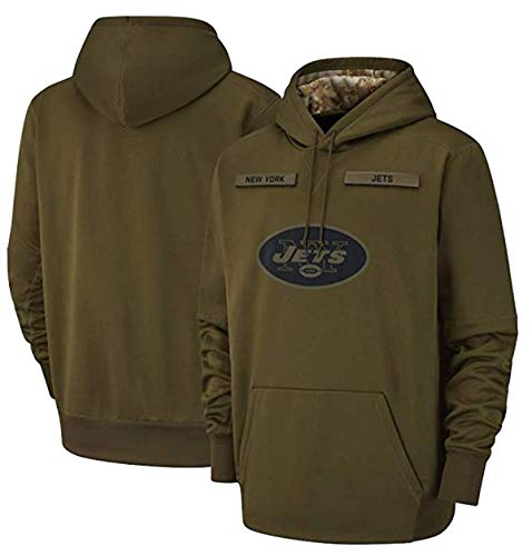 New_York_Jets_Men's_Apparel_Salute_to_Service_Sideline_Therma_Performance_Pullover_Hoodie Green ()
