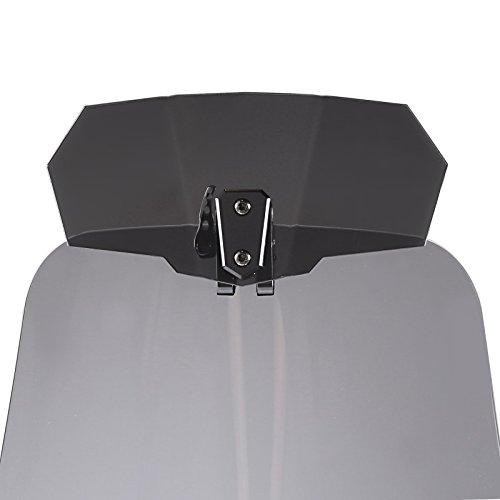 XJ6 Diversion// F Tourtecs Deflecteur Vario pour bulle Yamaha X-City 125// 250 XT 1200 Z Super Tenere fum/é noir XT 660 Z Tenere X-Max 125// 250// 300// 400