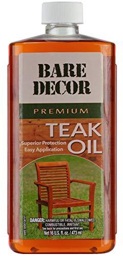 Bare Decor Premium Golden Teak Oil for Home and Marine Use, 16oz (Teak Sealant)