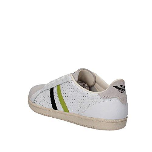 ARMANI JEANS Sneakers Uomo Bianco Pelle Camoscio AE404