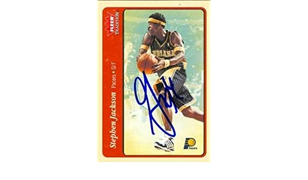 Stephen Jackson autographed Basketball Card (Indiana Pacers) 2004 Fleer  Tradition  42 - Autographed Basketball Cards at Amazon s Sports  Collectibles Store d8b1647f7