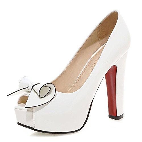 Fashion Heel - plataforma mujer blanco
