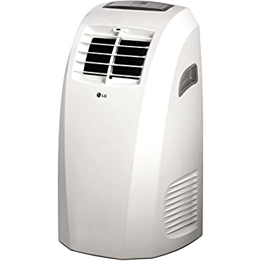 LG LP1015WNR 10,000 Btu 115V Portable Air Conditioner with Remote Control in White