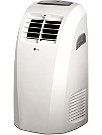 LG LP1015WNR 115V Portable Air Conditioner With Remote Control In White For  Rooms Up To 250