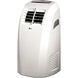 LG LP1015WNR 115V Portable Air Conditioner with Remote Control in White for Rooms up to 250-Sq. Ft.