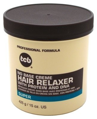 TCB No Base Creme Hair Relaxer with Protein and DNA Super 15.oz -