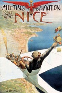 French Vintage Poster cm 1910 Nice Air Show France