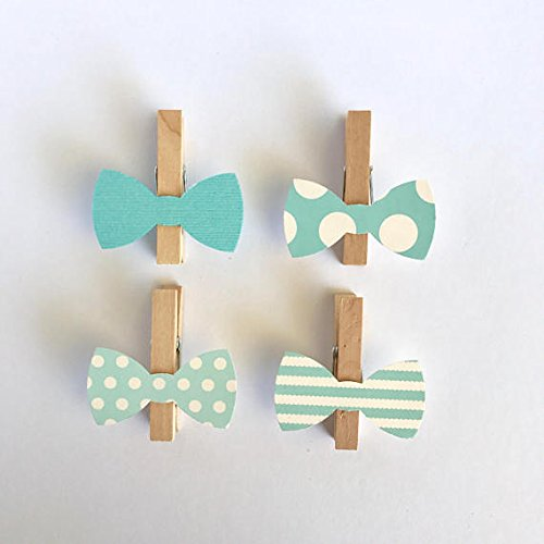 Bow Tie Clothespins Baby Shower Decoration Don't Say Baby...