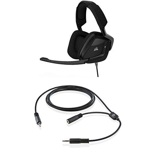 CORSAIR VOID PRO SURROUND Gaming Headset-Dolby 7.1 Surround Sound Headphones for PC-Works with Xbox One, PS4, Nintendo Switch, iOS and Android,Carbon and Elgato Chat Link, Party Chat Adapter for Xbox One and PlayStation 4 (Universal Audio 6176 Channel Strip)