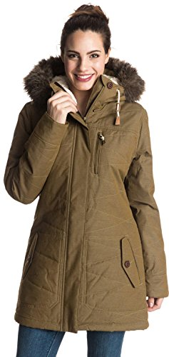 Roxy Womens Tara Jacket, Military Olive, X-Large
