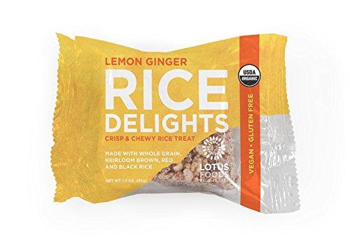 Lotus Foods Organic Rice Delights, Lemon Ginger, 1.5 oz, 8 Count