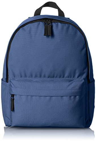 AmazonBasics Classic School Backpack - Navy, 5-Pack