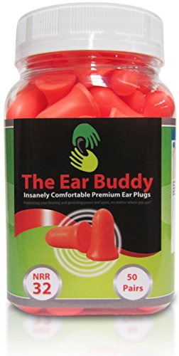 The Ear Buddy Premium Soft Foam Ear Plugs, Noise