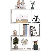 Etnicart - Librería Estante blanco Oficina Moderno Contemporáneo Divisor de madera de doble cara Home Day 70x23.5x96 Estantes…