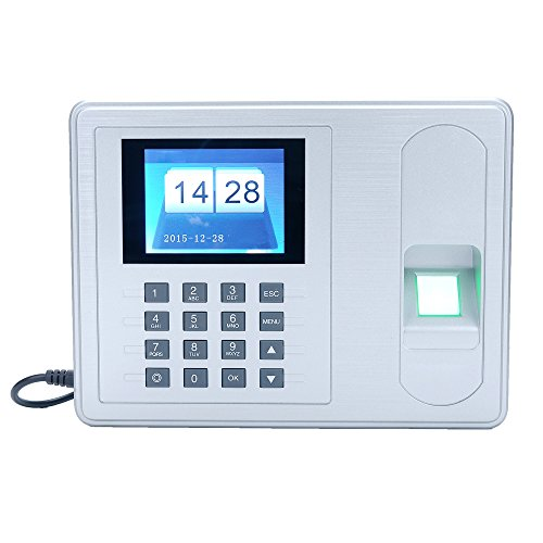 KKmoon Intelligent Attendance Machine with Biometric Fingerprint Password