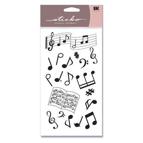 Sticko Stickers - Musical Notes Silhouette Classic ()
