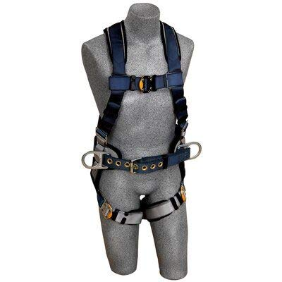 3M DBI-SALA ExoFit 1108501 Construction Harness, Back D-Ring, Sewn-In Back Pad & Belt w/Side D-Rings, Quick-Connect Buckles, Medium, Blue/Gray by 3M Personal Protective Equipment
