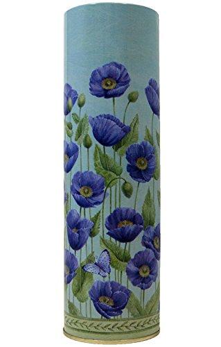 Amazon Tall Tin Flower Vase Blue Kitchen Dining