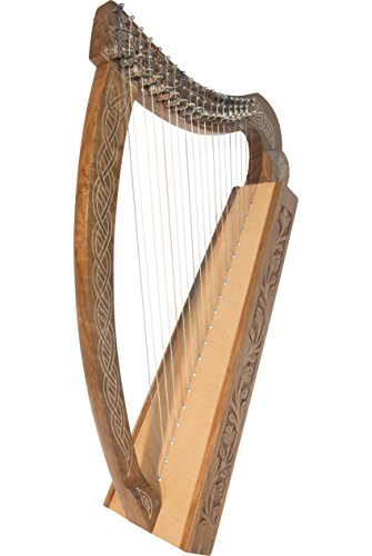 Roosebeck Lightweight Pixie Harp 19-String - Non Standing - Solid Walnut by Roosebeck