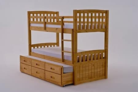 Captains Bunk Bed With Truckle Amazon Co Uk Kitchen Home