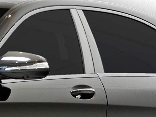 4 Piece Stainless Pillar Post Trim QAA fits 2014-2020 Mercedes S Class PP14085