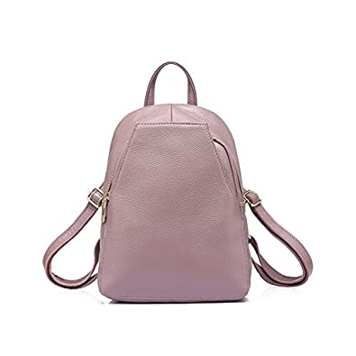 fe50a94f83 Amazon.com  Women Backpack Female Genuine Leather Backpacks For Girls  Teenagers Schoolbag Small Backpack Ladies Shoulder Bag Taro Purple 12  Inches  Shoes