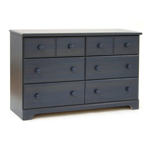 - South Shore Furniture, Summer Breeze Collection, 6 Drawer Dresser, Blueberry