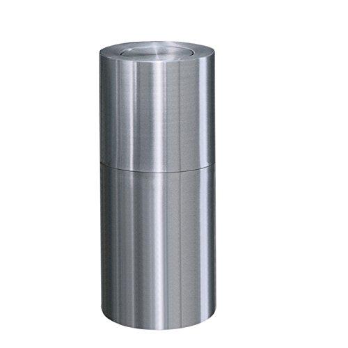 Rubbermaid Commercial Products FGATF18SAPL Atrium Aluminum Refuse Container with Flip Top (Atrium Waste Container)