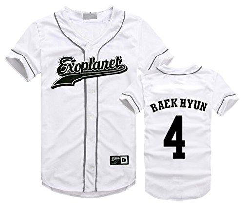 EXO Seoul Concert Same Style T-Shirt Baekhyun Sehun Xiumin Hip-hop Shirt M BAEKHYUN by babyHealthy
