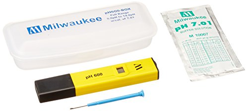 Milwaukee Instruments PH600BOX pH600 Economic Pocket Sized pH Temperature Meter with Protective Case and 7.01 Ca ()