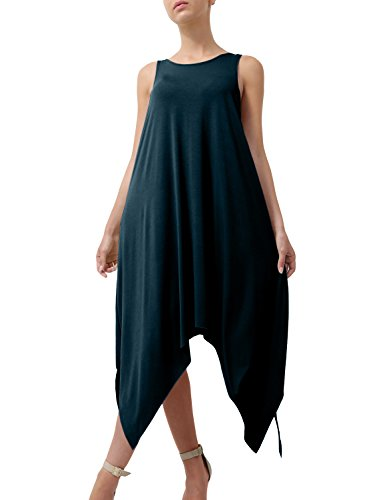 J. J. Lovny Womens Basic Flowy Light Weight Sleeveless Dress Jlwdr16 Jlwdr16-teal Lovny Des Femmes De Robe Sans Manches De Poids Léger Flowy De Base Jlwdr16 Jlwdr16-sarcelle