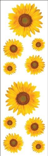 Mrs Grossman Stickers-Sunflowers (Wall Sunflower Stickers)