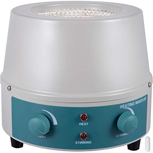 Mophorn Heating Mantle 1000ml,Magnetic Stirrer Heating Mantle 350W,Heating Mantle Magnetic Stirrer 0-1400 RPM,Lab Heating Mantle for Liquid Heating(1000ml)