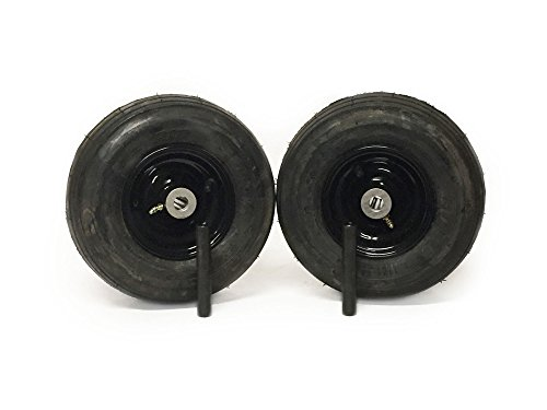 (2) Universal 11x4.00-5 Ribbed Caster Wheel Assembly 3/4