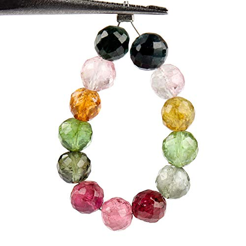 - Jaguar Gems 15 cts AAA Grade Multi Tourmaline Beaded Crystals Strand for Jewelry Making Projects Loose Gemstones Handcrafted Beads Drop Mini Strand | 12+ Beads | Fathers Day Special