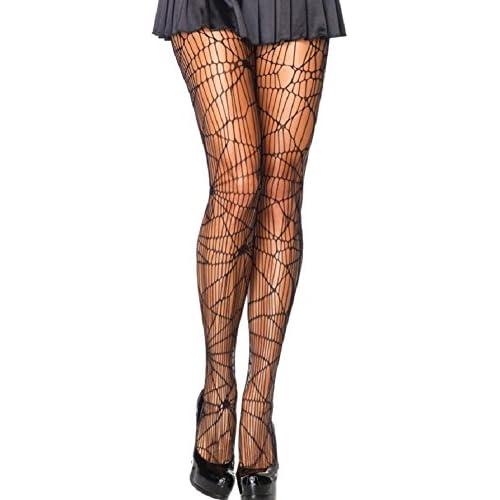 Leg avenue-minirobe filet avec trous collant pour femme noir taille :  38/40