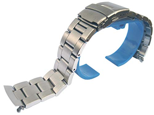 19mm Solid Steel Replacement Oyster Bracelet for 6139-6002 6005 6009 Pogue
