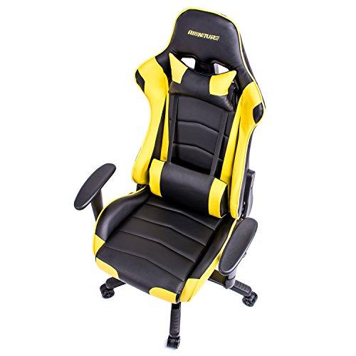 Adjustable Gaming Chair Ergonomic Racing Style High back Swivel