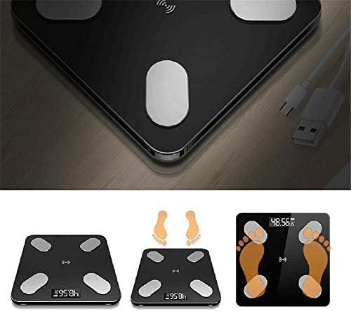 YLOVOW Bilance Pesapersone Digitali Ultra Sottili con Sensori Ad Alta Precisione - Nero Lucido
