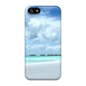New Snap-on Wade-cases Skin Case Cover Compatible With Iphone 5/5s- Landscape Beach